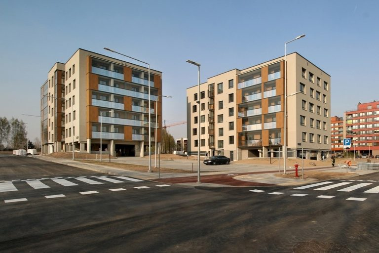 Apartment buildings complex, House C, Pilaitė, Vilnius, Lithuania