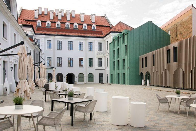 Pacai Hotel courtyard, Vilnius, Lithuania