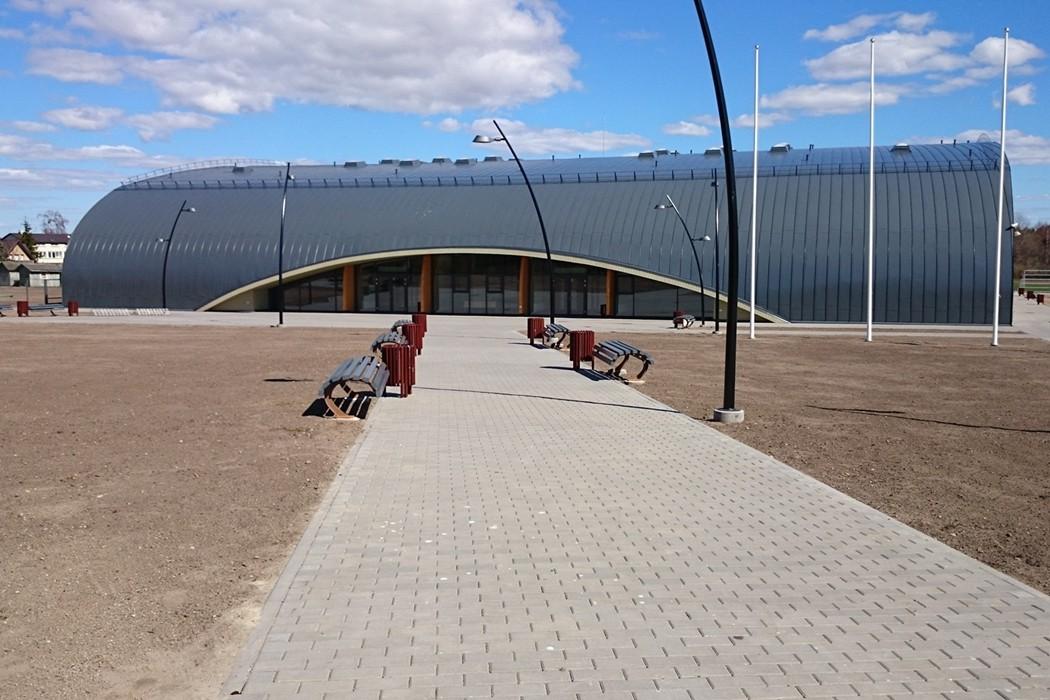 Reljef atliktas darbas: stadionas Klaipėdoje.